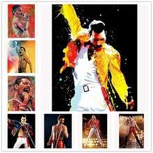 Bande de peinture diamant 5D Freddie Mercury   Bricolage, broderie de strass sur images, décoration complète en mosaïque diamant, cadeau de décoration