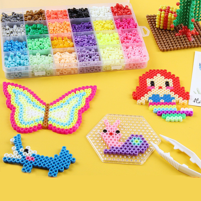 Aqua Hama Beads Perles Kit Set Kandi Colorful Bead Children Handicrafts DIY Toy Water Stick Refill Creation Bead Toy for Kids