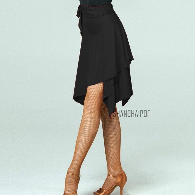 FEECOLOR 1 قطعة المرأة قاعة اللاتينية السالسا التانغو الرقص تنورة سكيت التفاف وشاح Dancewear