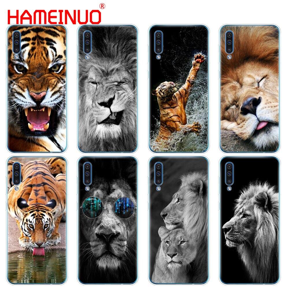 Silizium telefon abdeckung fall für Samsung Galaxy S10 E PLUS A10 A20 A30 A40 A50 A70 A10E A20E M20 Lion tiger Mode Schöne Tier