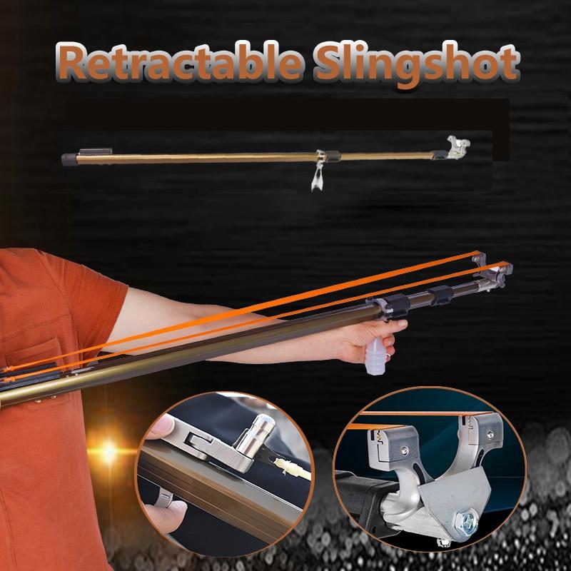 مقلاع اطلاق النار عالية الدقة في الهواء الطلق قابل للطي مقلاع مع شريط مطاطي اللاتكس عالية الجودة 2020 جديد