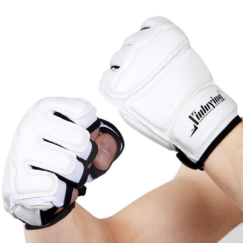 Боксерские перчатки с полупальцами для взрослых/Детские тренировочные боксерские мешки/перчатки Sanda/Karate/Muay Thai/ Fitness/защита для тхэквондо