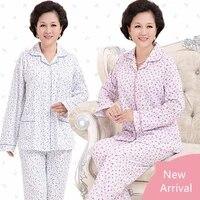 women cartoon pajamas sets long sleeve turn down collar with pocket pyjama cute pijama leisure sleepwear nightgown mujer