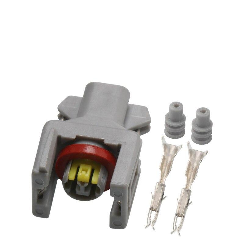 5 Pçs/lote 2 pin tyco auto injector de combustível Diesel bico plug conector do chicote de fio à prova d água 1743486-3