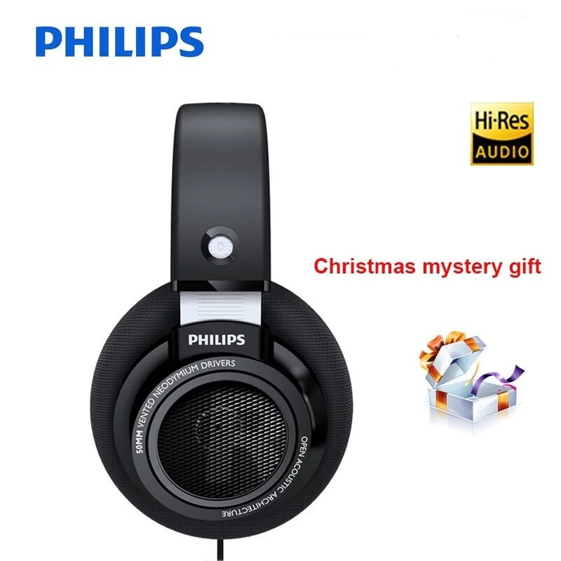 Philips-سماعات كمبيوتر احترافية SHP9500 ، سماعات رأس خاصة مع تقليل الضوضاء وخط طويل 3 أمتار