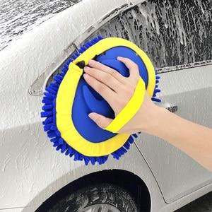 Image 3 - Щетка для мытья автомобиля FORAUTO, телескопическая щетка с длинной ручкой для мытья автомобиля, чистящие инструменты, шенилловая щетка, автомобильные аксессуары, чистящая Швабра