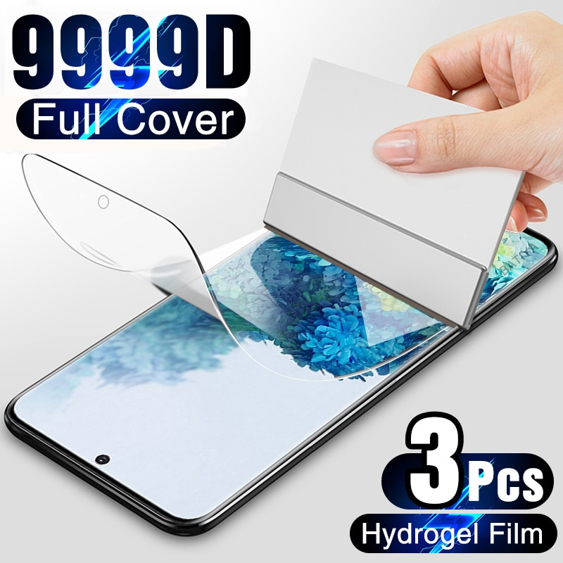 3Pcs Hydrogel Film on the Screen Protector For Samsung Galaxy S10 S20 S9 S8 Plus S7 S6 Edge Screen Protector For Note 20 8 9 10