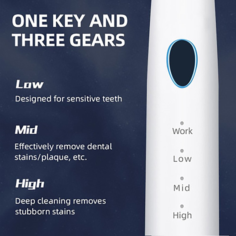 Rechargeable Ultrasonic Tooth Cleaner Household Beauty Tooth Smoke Stain Tooth Stone Remover Tooth Cleaning Appliance Portable enlarge