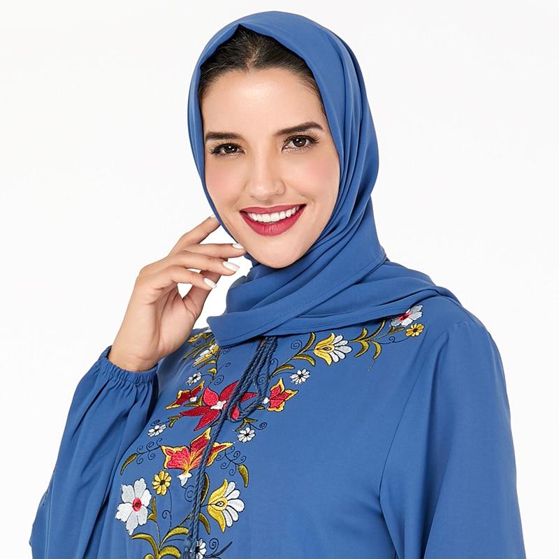 Siskakia 70*180 de las mujeres musulmanas jersey tipo hijab bufanda foulard mujer hijab islámico chales sólido calidad CEY pañuelo para las mujeres 2019