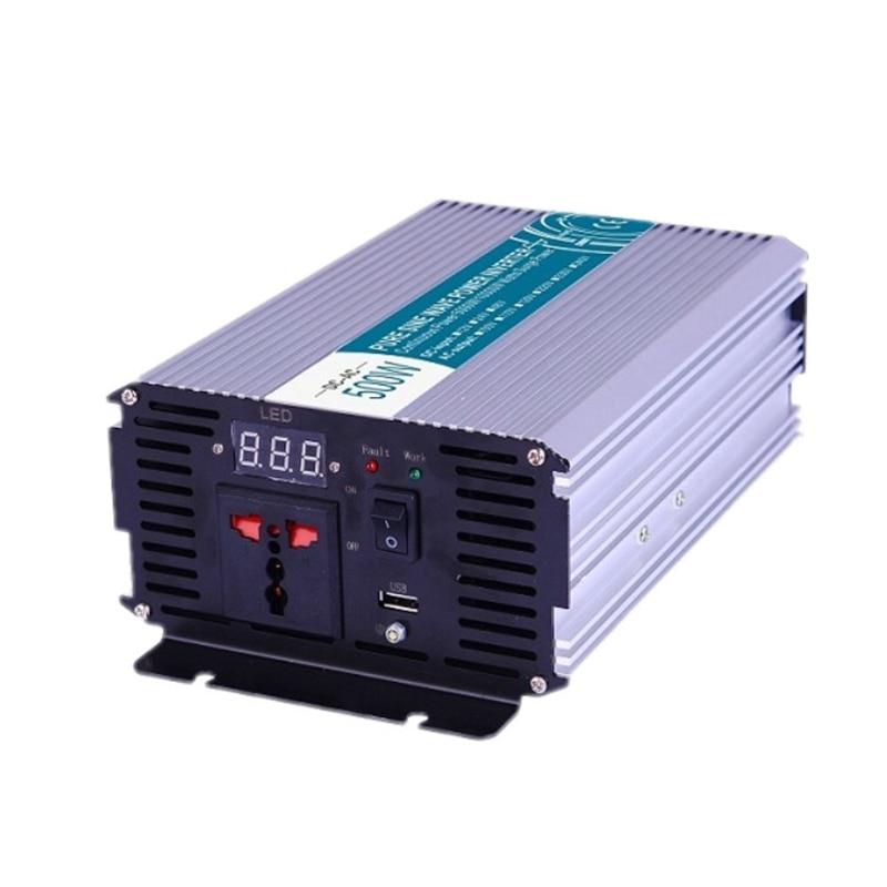 المعدات الكهربائية USB 300/500 واط نقية شرط موجة عاكس الطاقة DC12V/24 فولت-AC110V/220 فولت العاكسون محولات السيارات العاكسون الشمسية