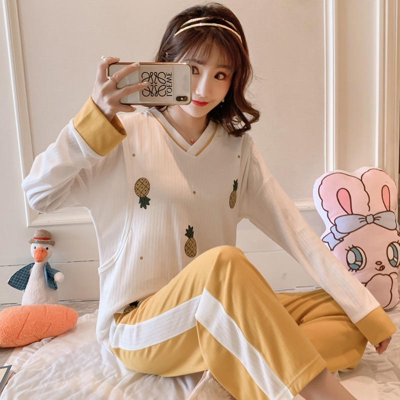 New Spring and Autumn Confinement Clothes Pregnant Women Pajamas, Summer Postpartum and Postpartum Nursing Clothes Ultra-thin enlarge