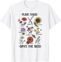 plant these save the bees flowers gardening mens t shirt