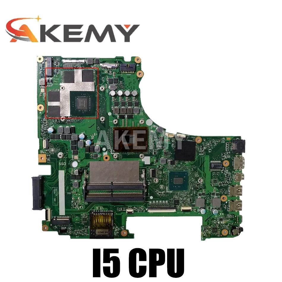GL753VD لأجهزة الكمبيوتر المحمول ASUS GL753VD اللوحة الأم GTX1050M اللوحة الرئيسية 4G ذاكرة الفيديو I5-7300HQ وحدة المعالجة المركزية اختبار العمل 100%!!!
