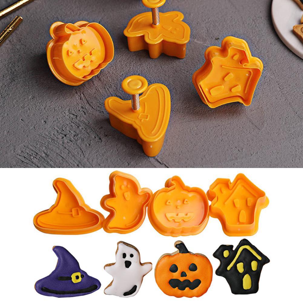 Резак для печенья «сделай сам», набор инструментов для выпечки, украшение для торта, Пластиковая форма для резки печенья на Хэллоуин