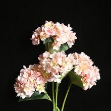 Artificial Flowers Fake Flowers декор для дома hydrangea Fake Silk Flower Home Wedding Party Floral Decor Wholesale Free Ship Z5
