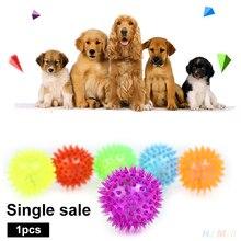 Loisirs jeu pour animaux de compagnie balle Spike chien mâcher balles décoration de noël lumières jouet LED chiot élastique chiot Gadget Massage