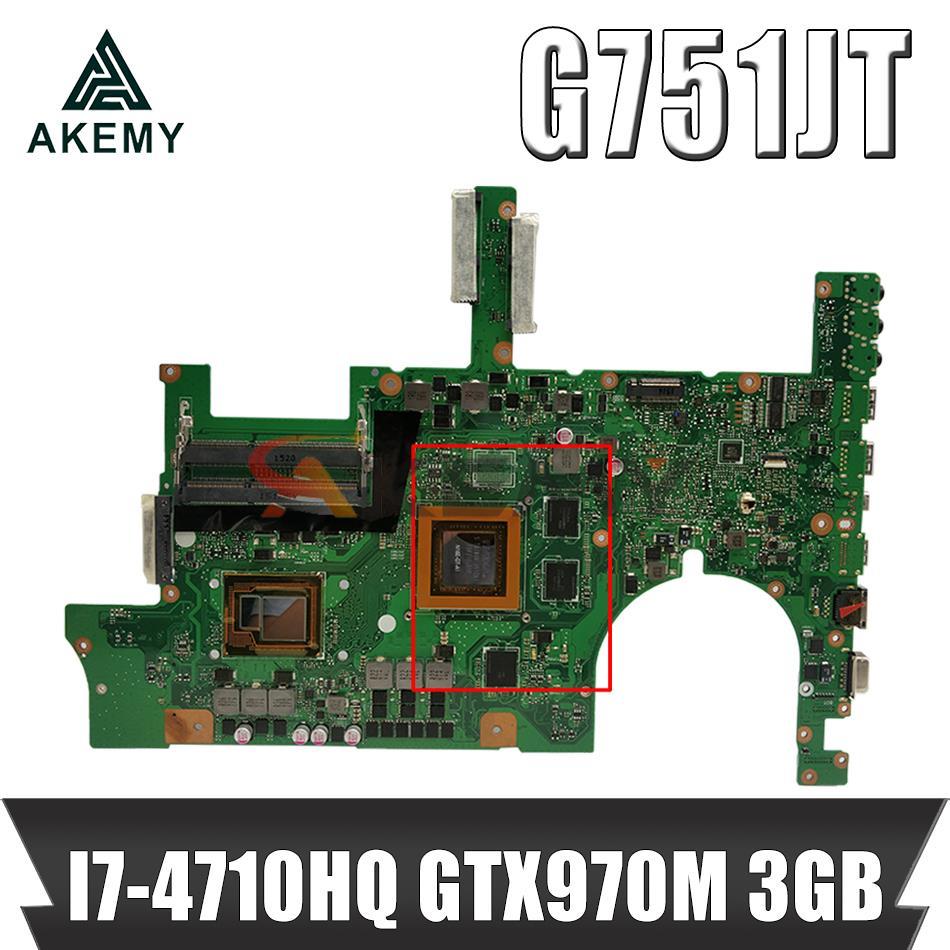 G751JT MB_0M/I7-4710HQ/كما GTX970M 3GB 90NB06M1-R00040 اللوحة ل Asus G751JT G751JY G751JL G751J G751 اللوحة المحمول
