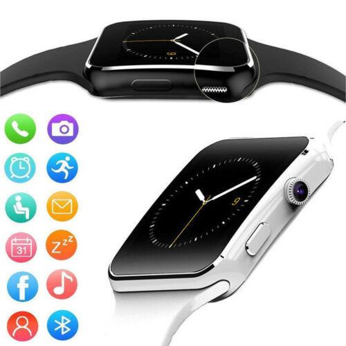 Tela curvada bluetooth digital relógio masculino tf sim câmera masculina relógio de pulso masculino para android ios iphone samsung moda