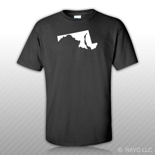 Camiseta en forma de Maryland S M L XL 2XL 3XL algodón MD