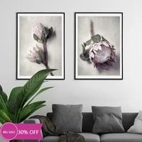 Toile de decoration de noel  affiches de peinture  fleurs roses  tableau dart mural pour salon  decoration de maison