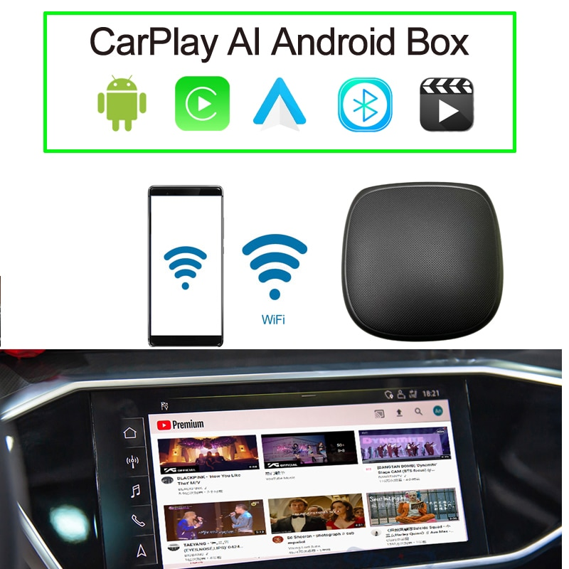 Auto Mutlimedia Mini Pie Android Ai Box Qualcomm Chip Android9 System for Cars with Wired CarPlay Car Navigation Update