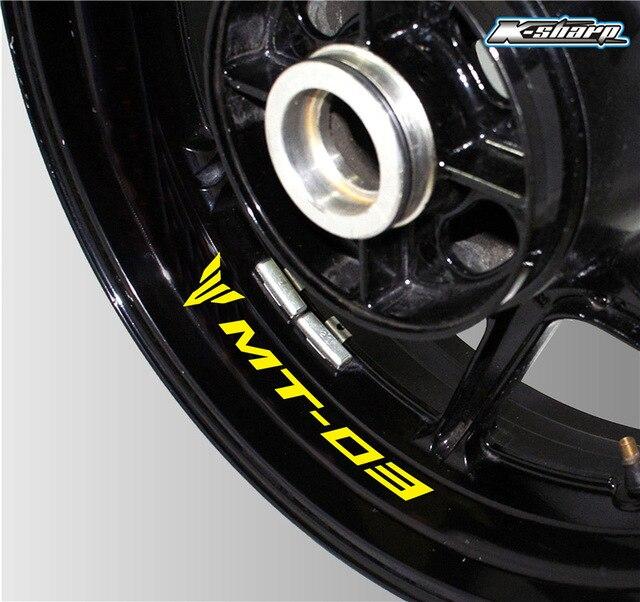 Pegatina de neumático con personalidad para motocicleta, lámina reflectante impermeable para rueda adecuada para YAMAHA MT-03 mt 03 mt03