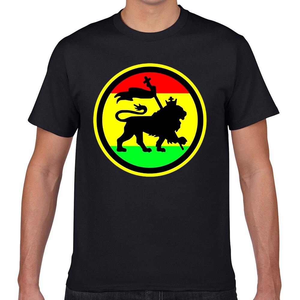 Tops Camiseta Hombre León rasta verano Harajuku Geek personalizado hombre Camiseta XXXL