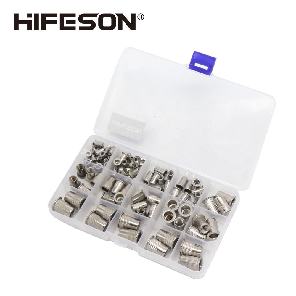 Peças de Aço Peças e 300 M10 para Arma Hifeson Inoxidável Porca Rebite Rivnut Inserção Nutsert Kit m3 m4 m5 m6 m8 Ferramenta Rebitagem 95