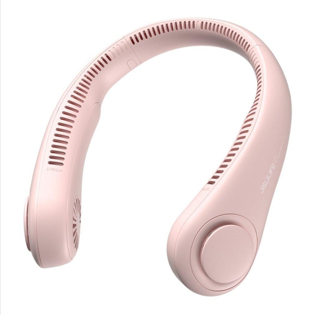 Беслопастной мини-вентилятор для охлаждения шейный вентилятор USB Перезаряжаемый вентилятор бесшумные спортивные вентиляторы безлистная п...