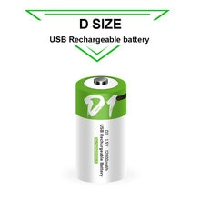 NEW D size 12000mWh lithium Rechargeable battery USB charging li-ion batteries for domestic water he