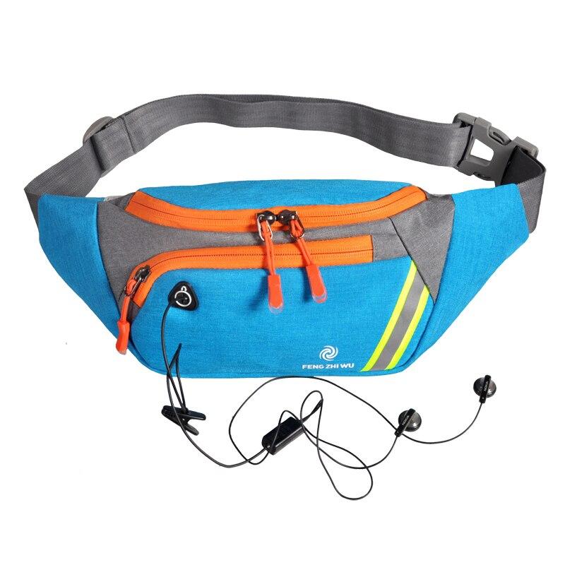 Мужская нагрудная сумка с карманами для бега, фитнеса, многофункциональная сумка через плечо, рюкзак для верховой езды, походная спортивная...
