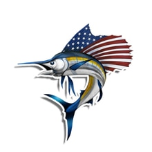 Personality Car Sticker Sailfish American 3D Vinyl Waterproof Car Window High Quality Accessories De