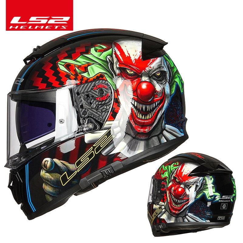 LS2-خوذة دراجة نارية كاملة الوجه FF390 ، خوذة واقية ، نظام مضاد للضباب ، أصلي