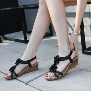 Women Summer Sandals High Quality Casual Wedge Sandal Female Beach Shoes 2021 Woman Gladiator Plus Size
