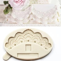 luyou 1pcs pearl lace silicone fondant mold cake decorating tools resin molds pastry kitchen baking accessories fm1841