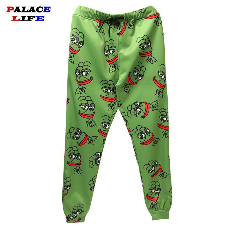 3D The Frog Joggers Pants Men/Women Funny Cartoon Sweatpants Elastic Waist Joggers Pant Men Hip Hop Casual Trousers customizable
