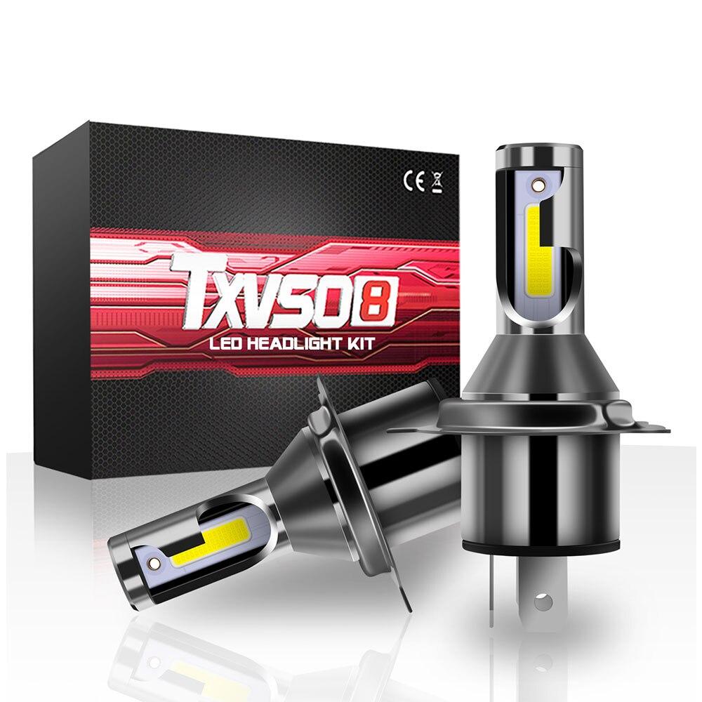 TXVSO8 أحدث ديود مصباح H4 LED المصابيح الأمامية لسيارة صغيرة 9003/HB2 مرحبا/لو العالمي السيارات COB 6000K ضوء 55 واط/لمبة 26000LM 자동차 led