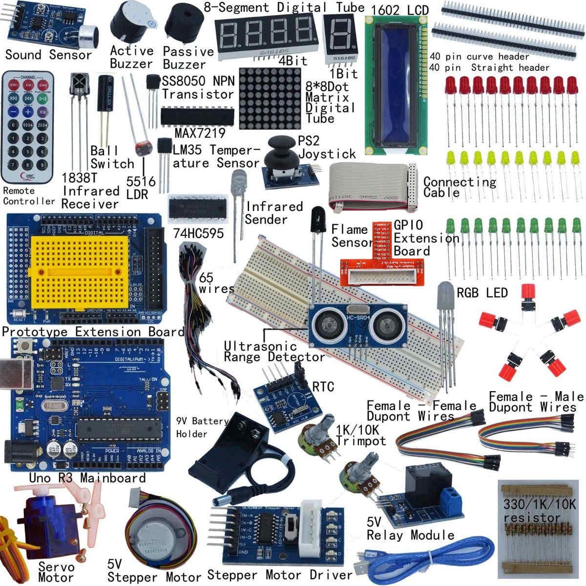 Полный стартовый комплект для Arduino UNO R3