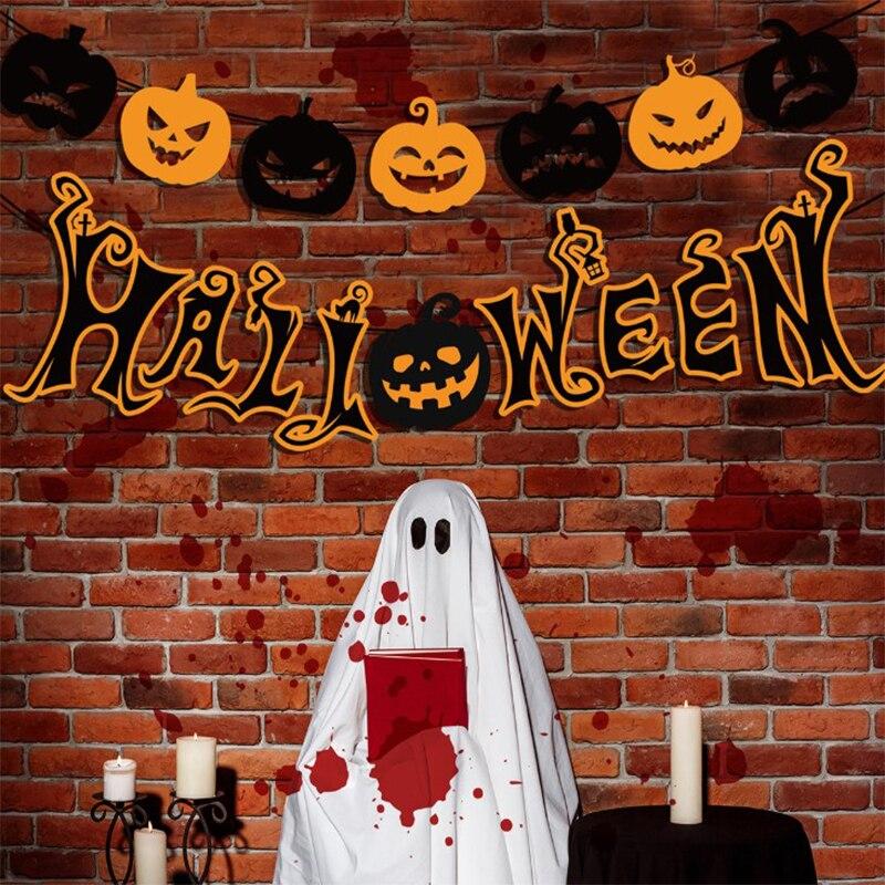 Foto de fiesta de Halloween caliente Banhot Sale Halloween Banner atrezo para fotografía de fiesta papel barba fiesta Halloween Pull Flagner