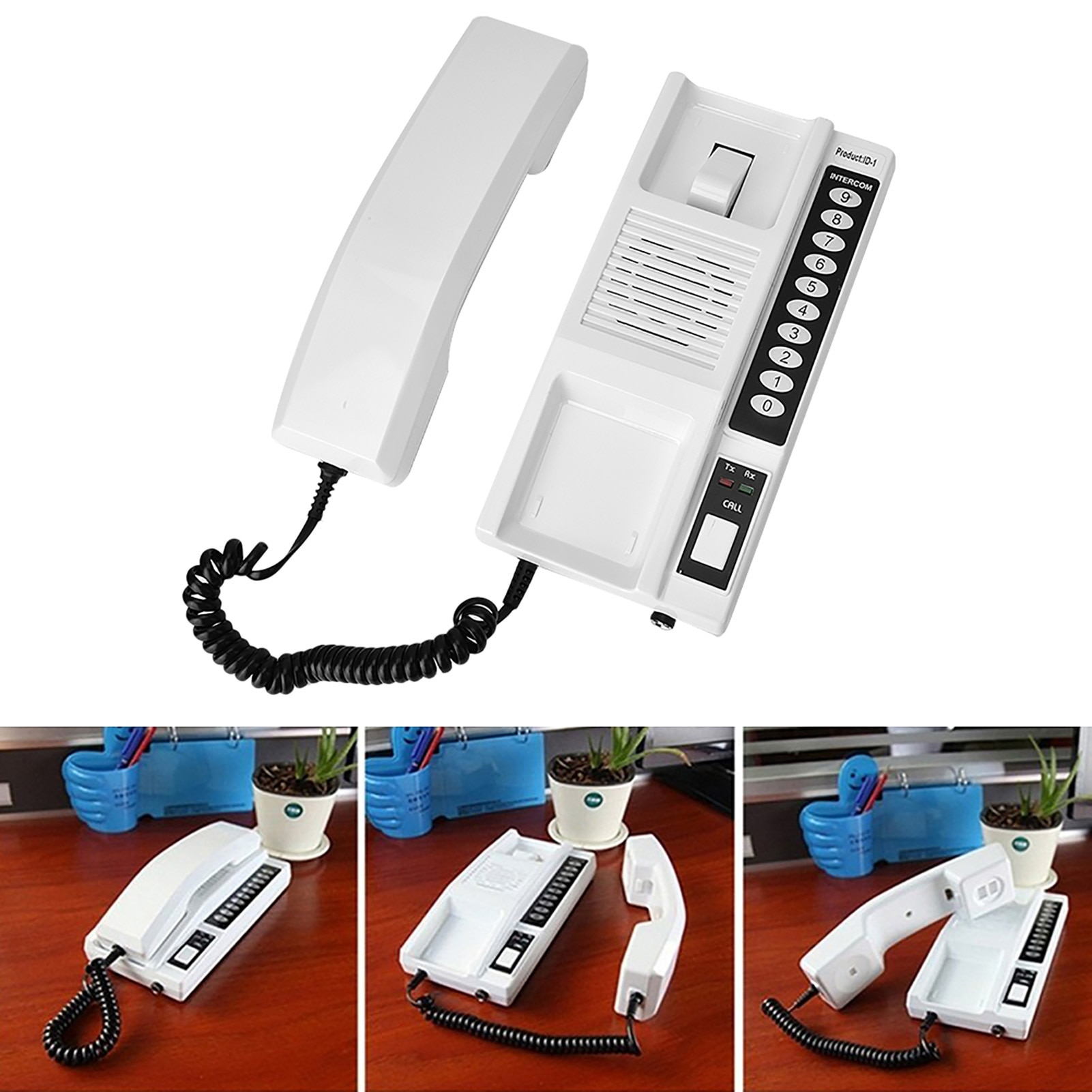 1 piece Walkie Talk Telephone Intercom 433Mhz Wireless Intercom System Secure Handsets Extendable for Warehouse Office enlarge