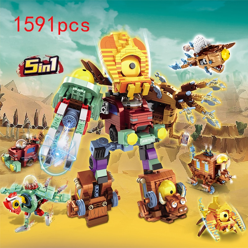 gudi robot bricks 10 in 1 creative assembling educational action figures number building block model kids legoingly toys gift Zombies Block 5 IN 1 Buliding Bricks Action figures Role Games Battles Educational gift toys for children