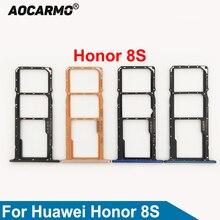 Aocarmo Black/Blue/Gold SD Memory MicroSD Holder Nano Dual Sim Card Tray Slot For Huawei Honor Play