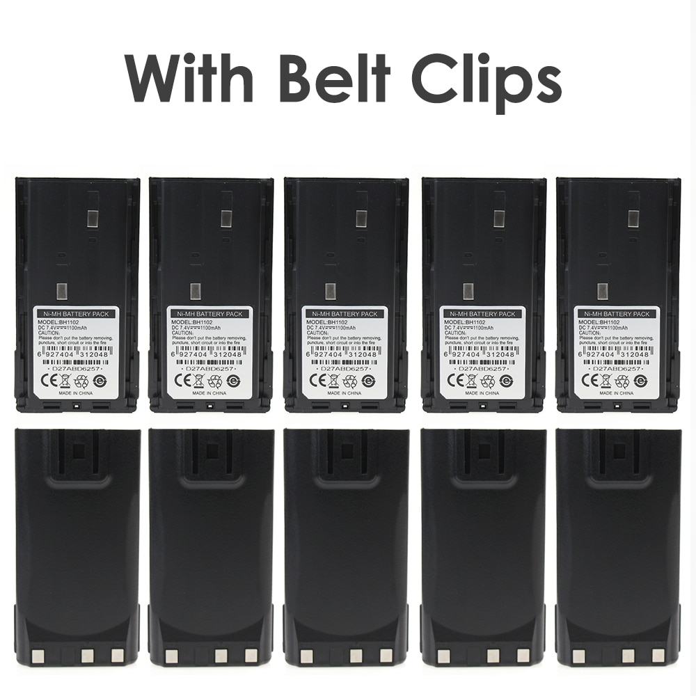 7,2 V 1100mAh BH1102 batería Ni-MH batería para Hytera TC-368 TC-368S batería con Clip para el cinturón