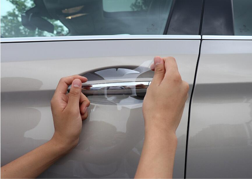 High Quality Car TPU Door Handle Cover Film Sticker Protective For VW Touareg Tiguan MK2 Polo Passat B8 T-ROC Touran Golf 7 MK4