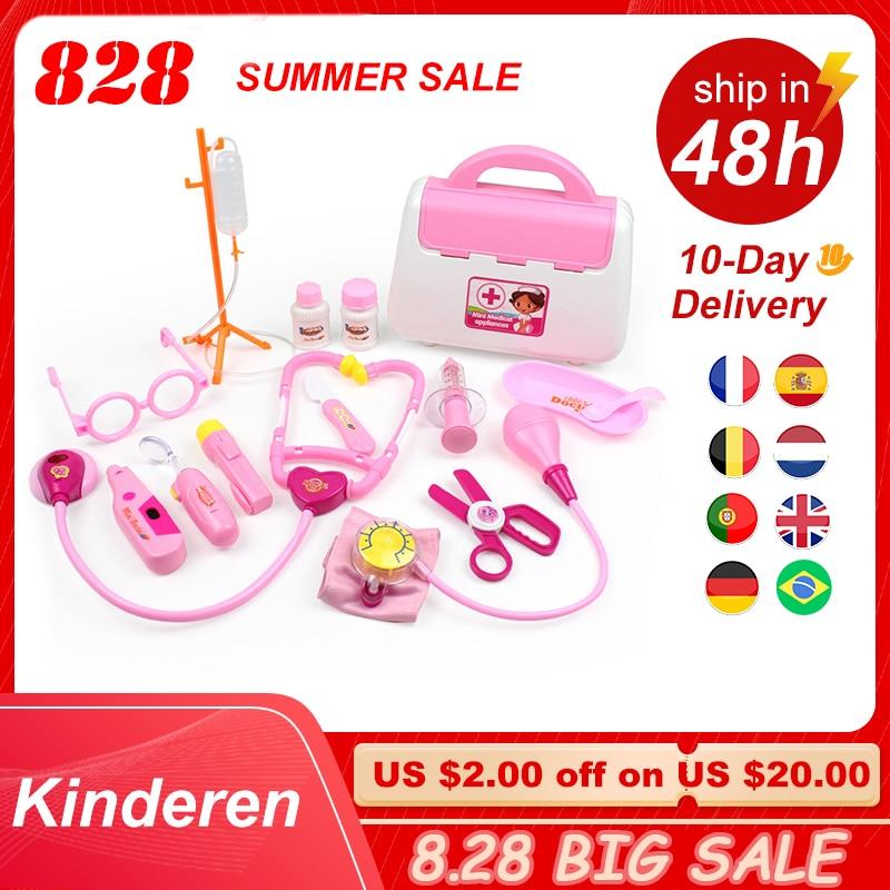 Детский набор игрушек-врачей, имитация Семейного доктора, медицинский набор, игрушка для ролевых игр, портативный чемодан, медицинский аксе...