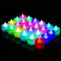 6122448pcs led electronic candle led light flameless battery powered multicolor lamp birthday party wedding anniversary decor