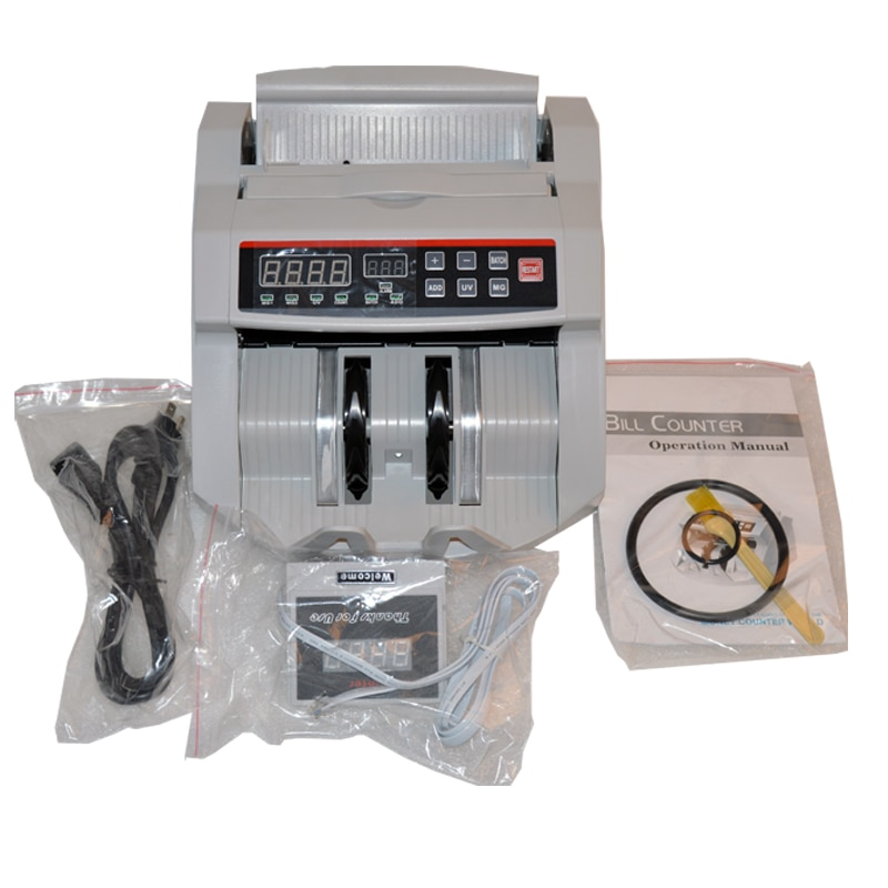 Contador de dinero 110 V/220 V máquina de contador de billetes adecuada para EURO dólar de EE. UU. etc. Máquina de conteo de efectivo Compatible con múltiples monedas