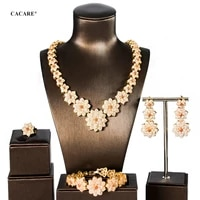 cacare luxury jewelry sets women party 2020 big dubai jewelry set 5pcs earrings necklace set f0812 statement fast shipping