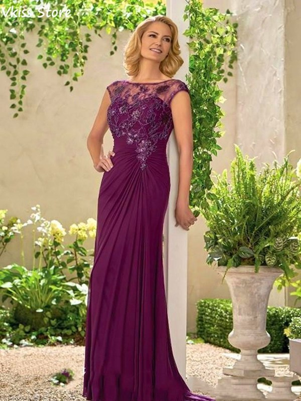 Elegant Mother Of The Bride Dress Lace Applique Formal Godmother Wedding Guest Party Gown Plus Size robe de soirée de mariage