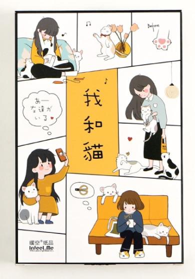 Cat me paper postcard(1pack=30pieces)